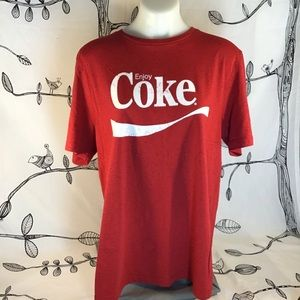 Coca Cola red short sleeve crew t shirt size XL